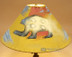 "20"" Painted Leather Lamp Shade -Spirit Bear"