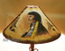 "24"" Painted Leather Lamp Shade -Indian Chief"