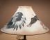 """Southwest Painted Leather Lamp Shade 20"""" -Eagle"""