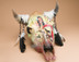 Painted steer skull - Warrior