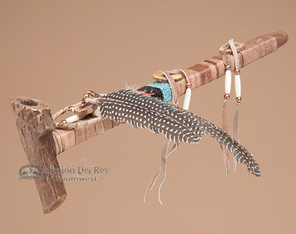 Authentic Pueblo Indian Antler Peace Pipe