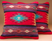 Pair of woven pillow covers. (pillow inserts sold separately)