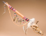 Creek Beaded Coyote Skull Pipe