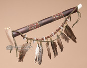 Draped Navajo Antler Pipe