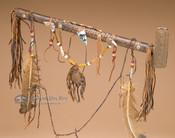 Basket Weave Navajo Antler Pipe