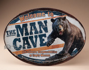 Metal Art Sign - Bear Man Cave