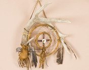 Native American Dreamcatcher with Antler Wall Art