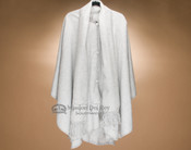 Alpaca Button Down Cape - Light Grey