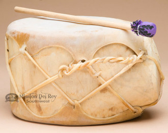 Native Aspen & Rawhide Log Drum