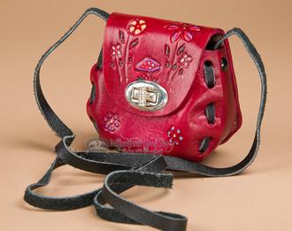 Mini Hand Stitched Leather Purse