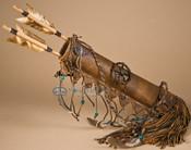 American Indian Deer Skin Quiver Set