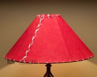 Western Leather Lamp Shade 20 Quot Red Pig Skin Mission