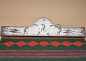 "Hand Painted Wooden Rug Hanger 30"" -Kokopelli (rh42)"