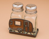 Metal Salt and Pepper Shaker - Camper
