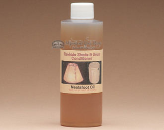 Rawhide conditioner will help extend the life of rawhide shades & drums.