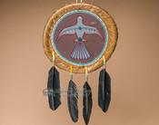 Painted Rawhide War Shield Mandella