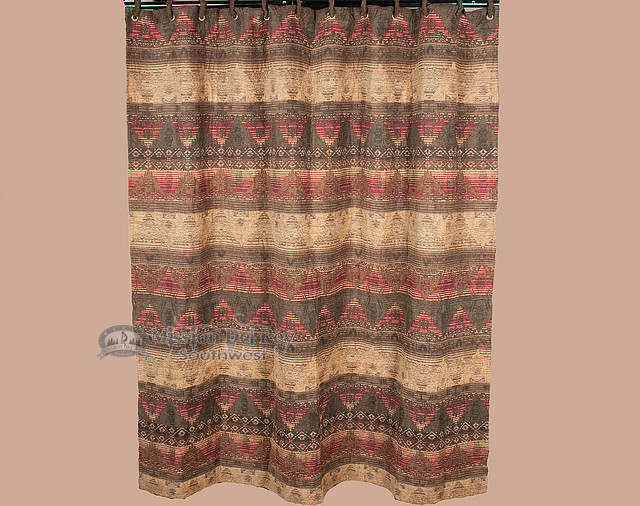 Plush Luxury Southwestern Shower Curtain Del Sierra Sc4