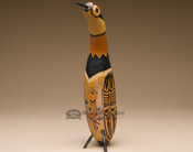 Hand Carved Andean Indian Gourd Southwest Bird - Large