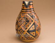 Etched Geo Pattern Gourd Vase