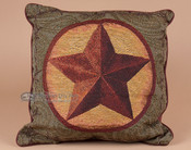 Designer Western Star Accent Pillow 17x17
