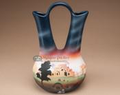 """Southwestern Navajo Wedding Vase 11"""" -Pueblo (187)"""