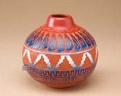 "Navajo Indian Clay Pottery Vase 5"" (45)"