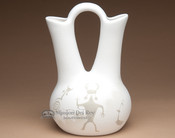 Navajo white wedding vase.