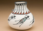 Tigua Painted Pottery - Lizard