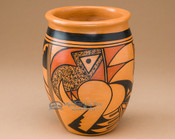 Native American Painted Pottery Vase