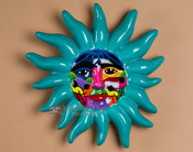 "Hand Painted Ceramic Oaxaca Pottery Wall Sun 12"" (T6)"