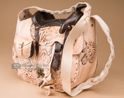 Western Hand Tooled Leather Saddle Purse