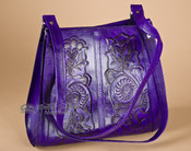 Purple Southwestern Tooled Leather Purse