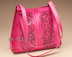 Pink Western Tooled Leather Purse