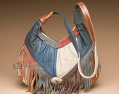 Multicolored Southwestern Leather Purse