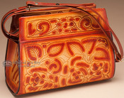 Southwest Hand Tooled Leather Purse.