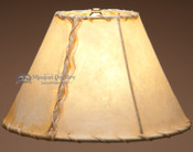 Rustic southwestern light rawhide lamp shade. 12""