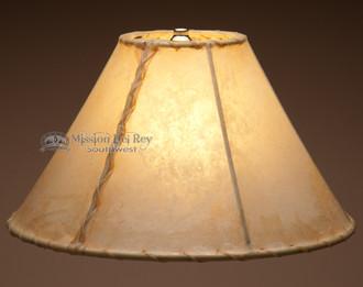 "Southwestern-lite rawhide lampshade - 14""."
