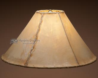 "Rustic southwestern rawhide lamp shade. 18"""