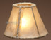 Southwestern light rawhide chandelier shade. 6""