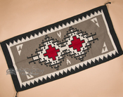 "Southwest Navajo Style Two Grey Hills Pattern Rug 32""x64"" (64325)"