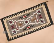 "Western Rug - Woven Wool Navajo Storm 32""x64"" (64403)"