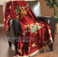 Designer southwestern plush red throw