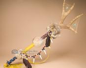 "Native American Beaded Antler Spirit Stick 33"""