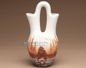 "Hand Painted Navajo Wedding Vase 10"" -Prospector (p1)"
