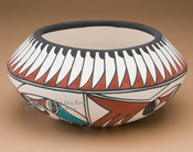 Southwestern Painted Tigua - Bowl