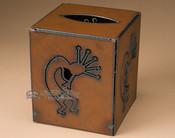 Rustic metal tissue box.