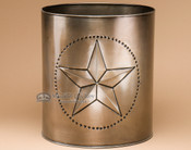 Rustic metal art - trashcan.