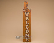 Western Metal Welcome Sign - Boot