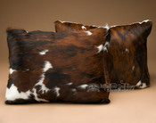 Pair -Western Cow Hide Pillows 12x18 (P1)