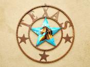 "Rustic Texas Western Metal Barn Star 22"" -Horse"